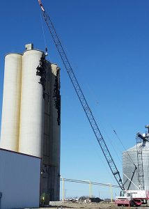 demolition of grain bin